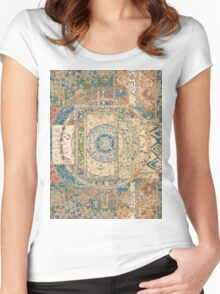 Collage of Patterns Women's Fitted Scoop T-Shirt