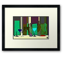 POPPING BOTTLES - BLURRED SPACES Framed Print