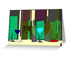 POPPING BOTTLES - BLURRED SPACES Greeting Card