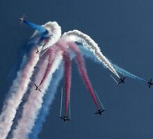 The Red Arrows Displying at RAF Waddington International Airshow by John Marshall