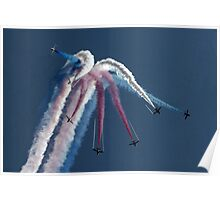 The Red Arrows Displying at RAF Waddington International Airshow Poster