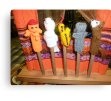 *Finger Puppets - Creswick Knitting Mills* Canvas Print