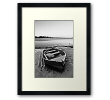 Boat in the Winter Framed Print