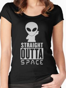 Straight Outta Space Alien Women's Fitted Scoop T-Shirt