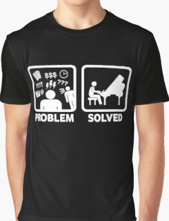 Problem Solved With Piano Funny Shirt Graphic T-Shirt