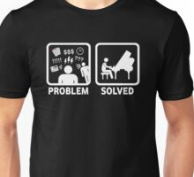 Problem Solved With Piano Funny Shirt Unisex T-Shirt