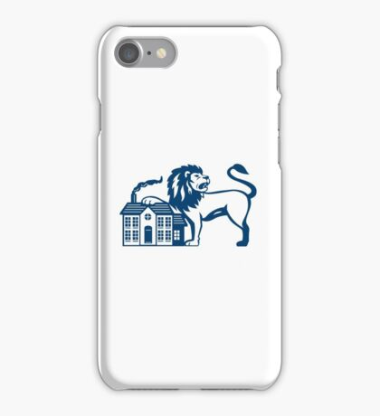 Angry Lion Paw on House Isolated Retro iPhone Case/Skin