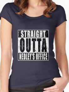 Straight Outta Nedley's Office Women's Fitted Scoop T-Shirt