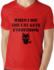 The cat gets everything Mens V-Neck T-Shirt