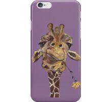 Giraffe Purple Large iPhone Case/Skin