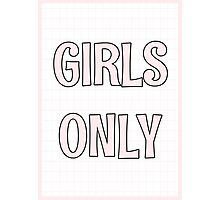 Girls Only - Grid Photographic Print