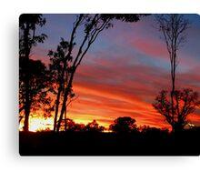 Beautiful April Sunset in Kununurra Canvas Print