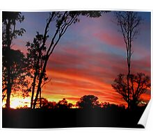 Beautiful April Sunset in Kununurra Poster