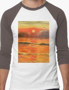 Sunrise over the Ocean Men's Baseball ¾ T-Shirt