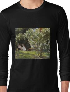 Peder Severin Kroyer - Roses. Garden landscape: garden view, Woman, blossom, nature, botanical park, floral flora, wonderful flowers, Rose, cute plant, garden, flower Long Sleeve T-Shirt