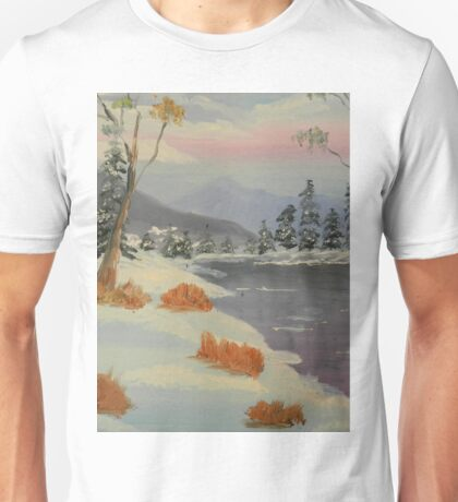 Snowy Day in Europe Unisex T-Shirt