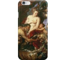 Peter Paul Rubens - Minerva Protects Pax From Mars. People portrait: goddess, greek mythology, war god, god, female and male, children, angel, gods, women and men, wisdom, People iPhone Case/Skin