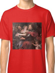 Peter Paul Rubens - Venus And Mars . Lovers portrait:  seductive goddess, woman and man, Venus,  Mars , embrace, lovely couple, war god, gods, angel, women and men, female and male Classic T-Shirt