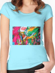 colorful scarf Women's Fitted Scoop T-Shirt