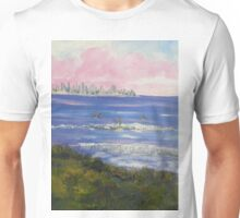 Burliegh Heads Sunrise with Early Morning Surfers Unisex T-Shirt