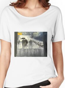 Rainy City Street Women's Relaxed Fit T-Shirt