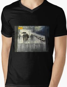 Rainy City Street Mens V-Neck T-Shirt