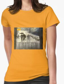 Rainy City Street Womens Fitted T-Shirt