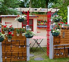 Hanging plant pot holders at the RHS Chelsea Flower Show by Keith Larby