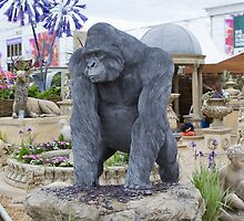 Gorilla statue at the RHS Chelsea Flower Show by Keith Larby