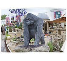 Gorilla statue at the RHS Chelsea Flower Show Poster