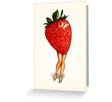Fruit Stand - Strawberry Girl Greeting Card