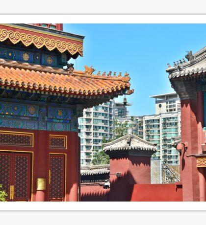 Beijing's Contrasts Sticker