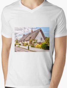 Thatched Cottage Avebury Mens V-Neck T-Shirt