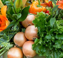 Onions at RHS Chelsea Flower Show by Keith Larby
