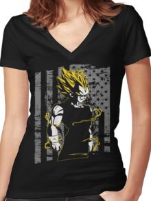 Vegeta Super Saiyan Women's Fitted V-Neck T-Shirt