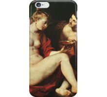 Peter Paul Rubens - Venus, Cupid, Bacchus And Ceres. People portrait:  goddess, Venus, Cupid, love, Bacchus, wine, Ceres, food, women and men, romance, good life iPhone Case/Skin