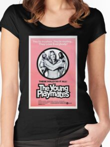 YOUNG PLAYMATES B MOVIE Women's Fitted Scoop T-Shirt