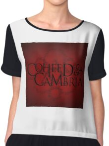 COHEED & CAMBRIA RED SYMBOL NEW Chiffon Top