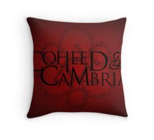 COHEED & CAMBRIA RED SYMBOL NEW Throw Pillow