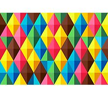Colorful Diamond Pattern Photographic Print