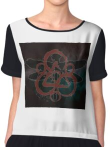 COHEED & CAMBRIA DRAGON FLY SYMBOL NEW Chiffon Top
