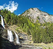 Les Cascades de Rouget French Alps by Nick Jenkins