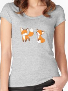 Cute Little Foxes Women's Fitted Scoop T-Shirt