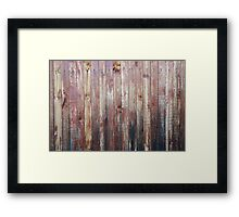 Weathered Wood Wall Texture Framed Print