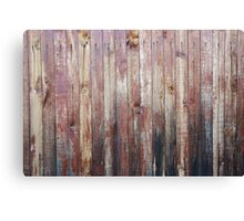Weathered Wood Wall Texture Canvas Print