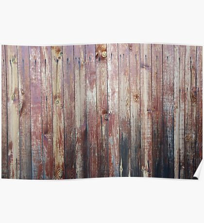 Weathered Wood Wall Texture Poster