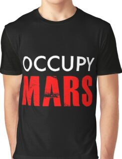 Occupy Mars - Distressed Graphic T-Shirt