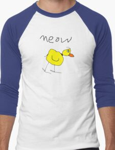 meow the duck Men's Baseball ¾ T-Shirt