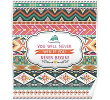 Seamless pattern in native american style Poster