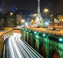 Barcelona`s night. by Oleg Zaslavsky